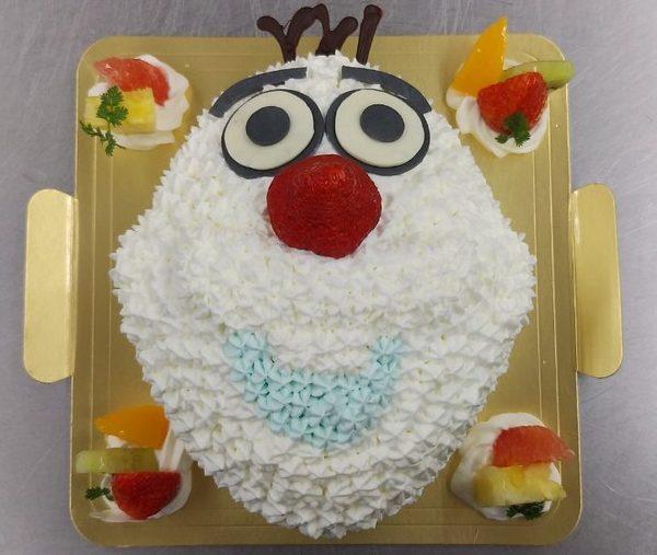雪だるまのケーキのサムネイル